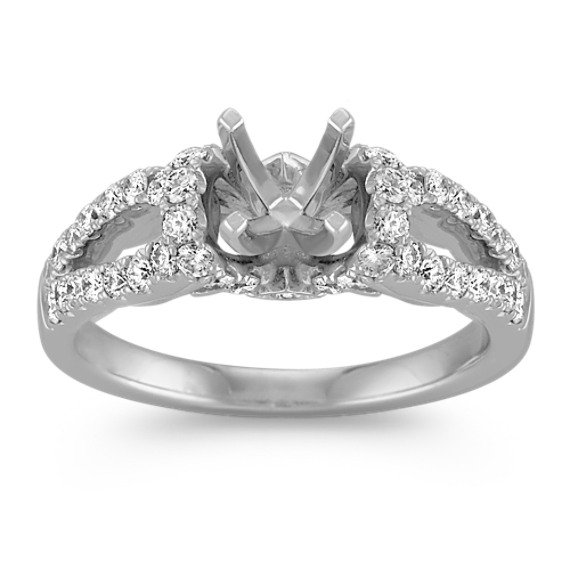 Diamond Engagement Ring with Pavé Setting