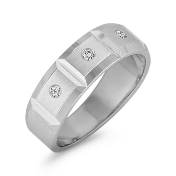 Diamond Geometric Men's Ring (7mm)
