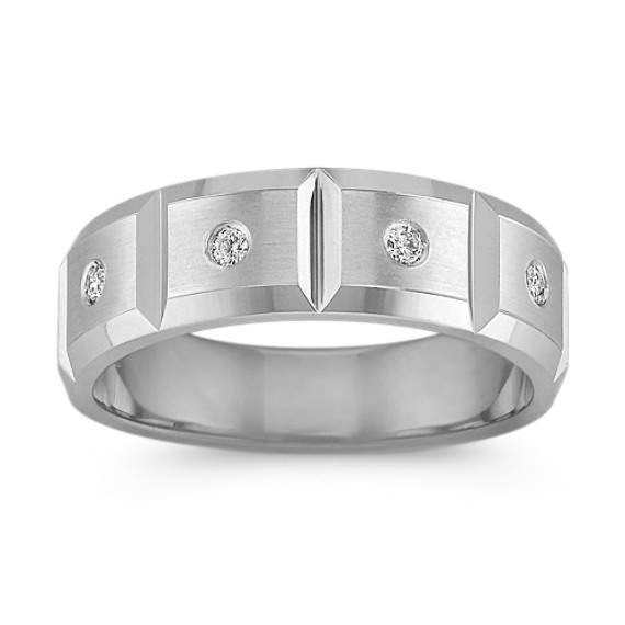 Diamond Geometric Men's Ring