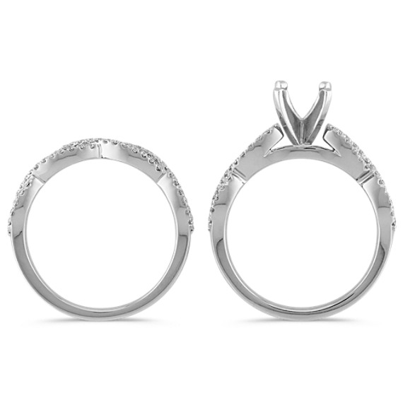 Diamond Infinity Wedding Set
