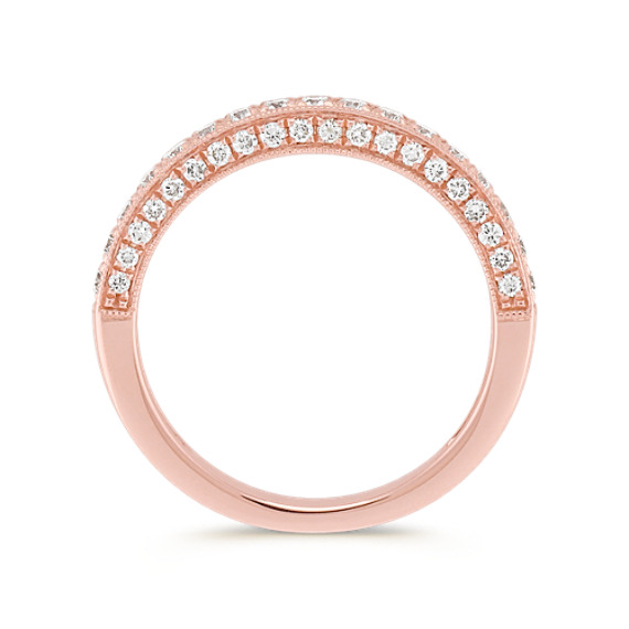 Diamond Pavé Set Wedding Band in Rose Gold