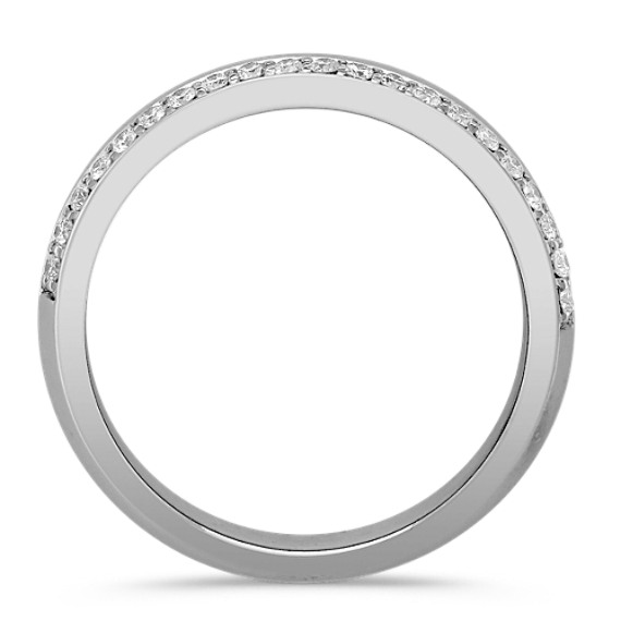 Diamond Ring for Him with Pavé Setting