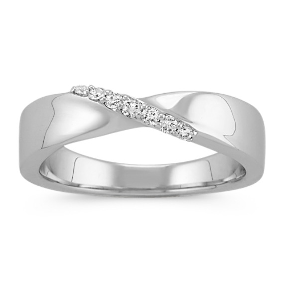 Diamond Ring in Sterling Silver