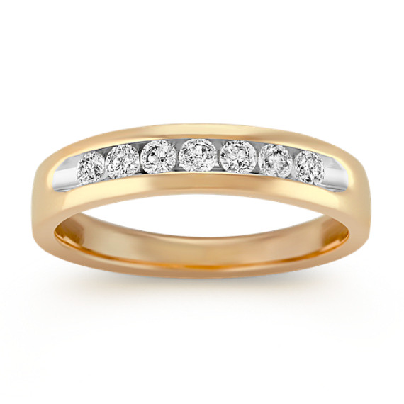 Diamond Ring with Channel-Setting