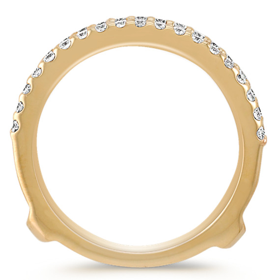 Diamond Solitaire Engagement Ring Guard