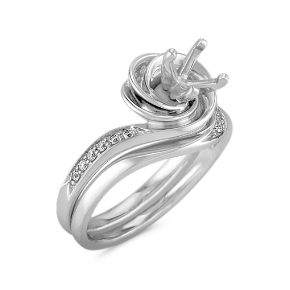 Diamond Swirl Wedding Set