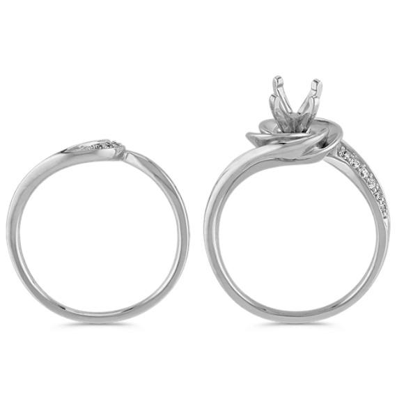 Diamond Swirl Wedding Set