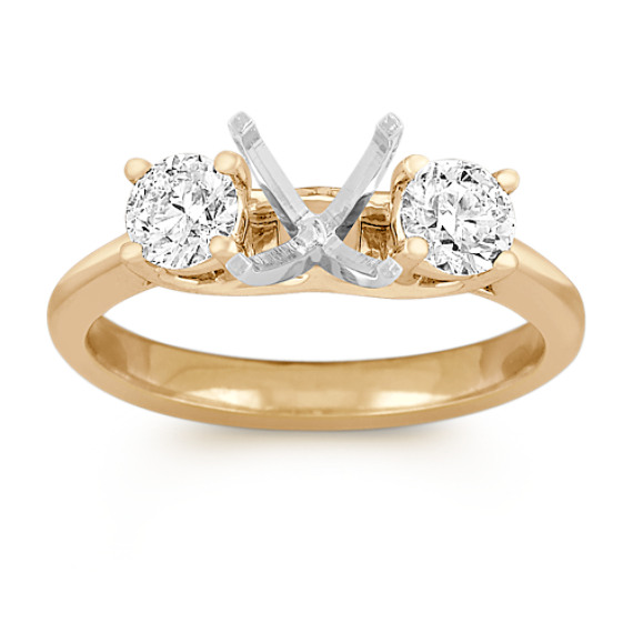 Diamond Three-Stone Engagement Ring