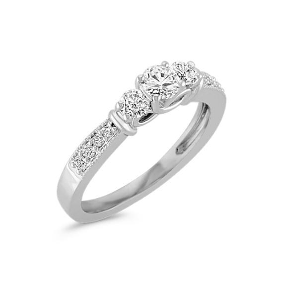 Diamond Three-Stone Ring