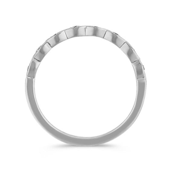 Diamond Twist Ring in 14k White Gold