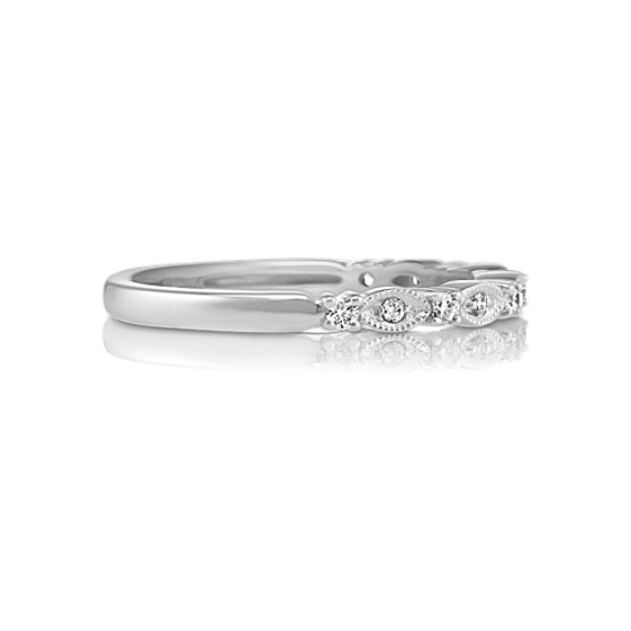 Diamond Wedding Band with Alternating Design