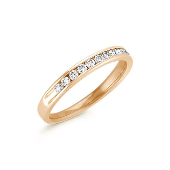 Diamond Wedding Band with Channel Setting
