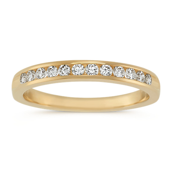 Diamond Wedding Band with Channel-Setting