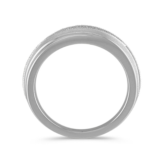 Diamond Wedding Ring with Satin Finish (7mm)