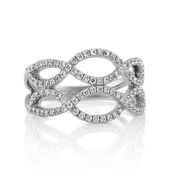 Double Row Infinity Round Diamond Ring