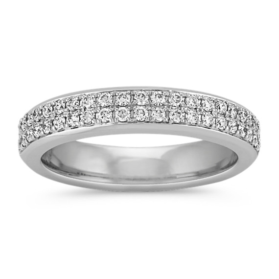 Double Row Round Diamond Band