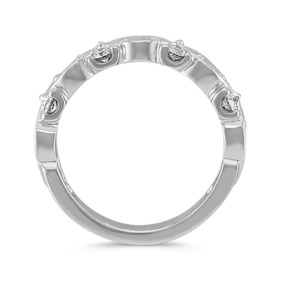 Double Twist Diamond Wedding Band