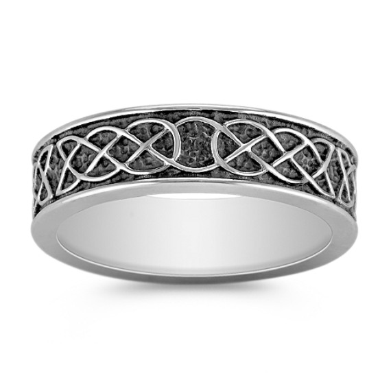 Engraved Comfort Fit Cobalt Ring (7mm)