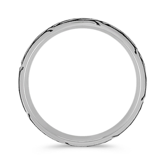 Engraved White Gold Ring (6.5mm)