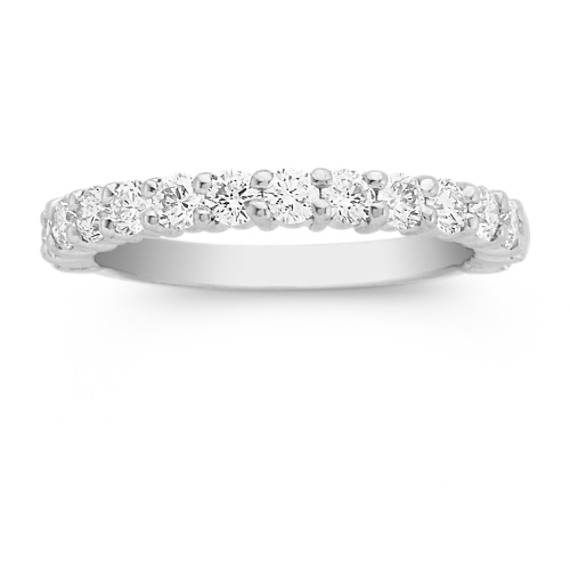 Fifteen Round Diamond Wedding Band in Platinum