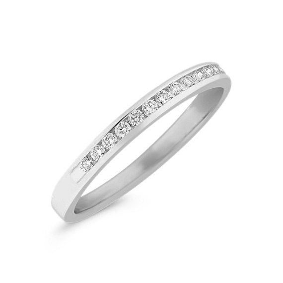 Fifteen Stone Round Diamond Wedding Band