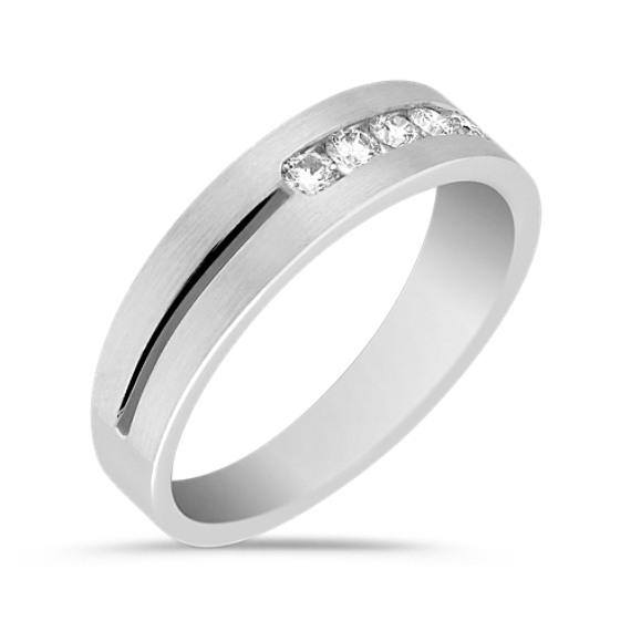 Five Stone Channel Set Round Diamond Ring