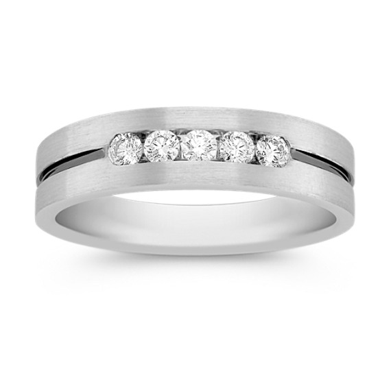 Five-Stone Channel-Set Round Diamond Ring