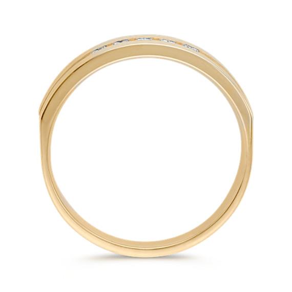 Five-Stone Round Diamond Men's Ring in 14k Yellow Gold (6.5mm)