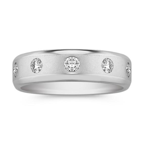 Five-Stone Round Diamond Ring with Bezel Setting