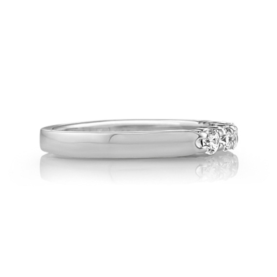 Five-Stone Round Diamond Wedding Band