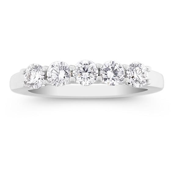 Five-Stone Round Diamond Wedding Band