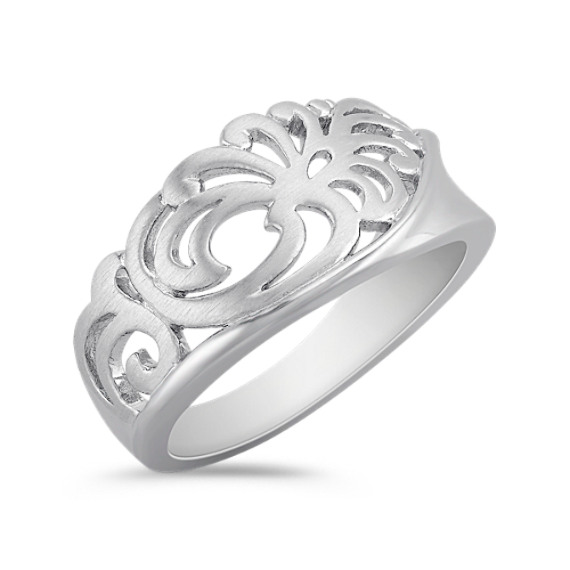 Floral Ring in Sterling Silver