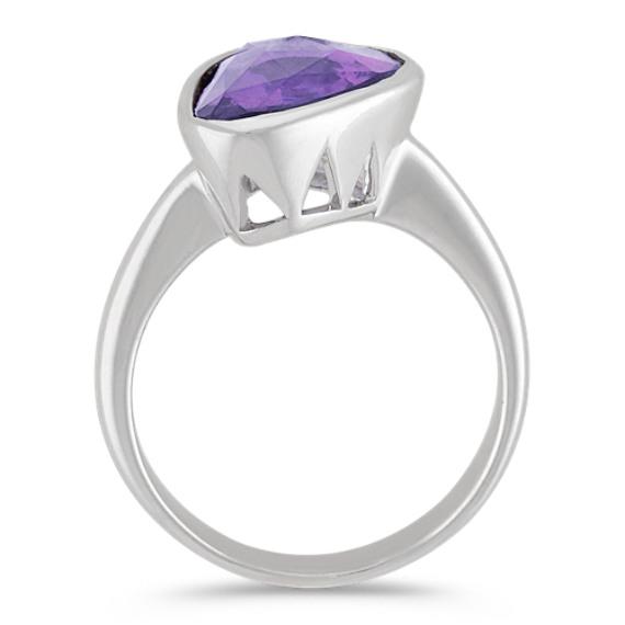 Freeform Lavender Sapphire Ring