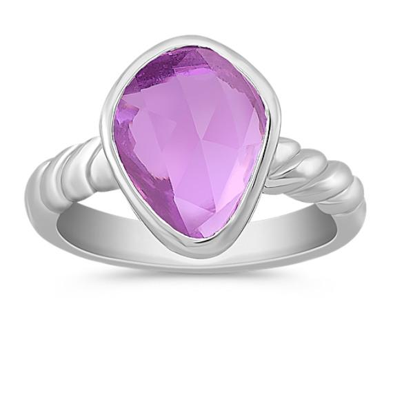 Freeform Pink Sapphire Ring