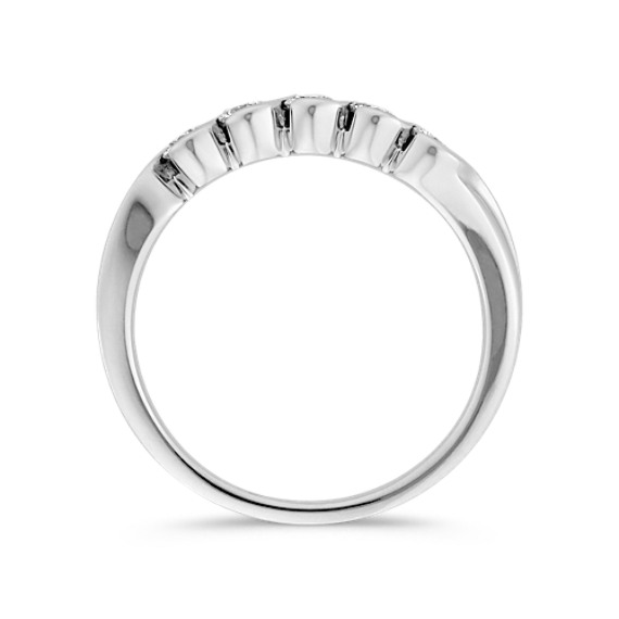 Half-Bezel Set Round Diamond Anniversary Band