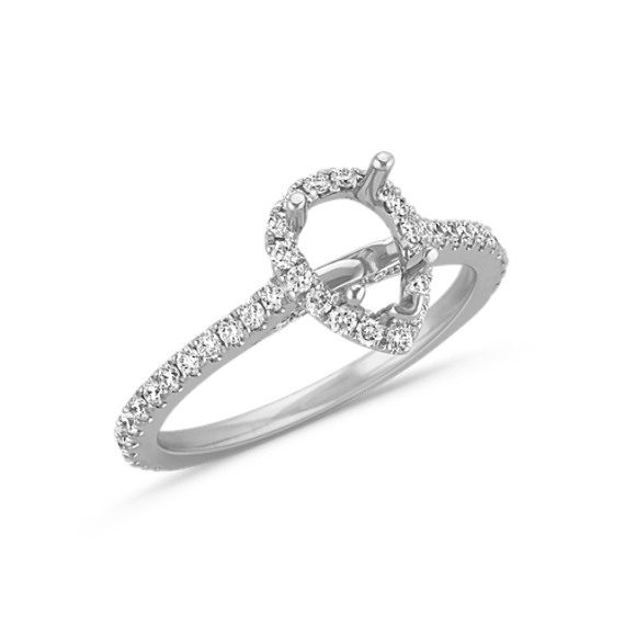 halo diamond engagement ring for carat pear shaped at