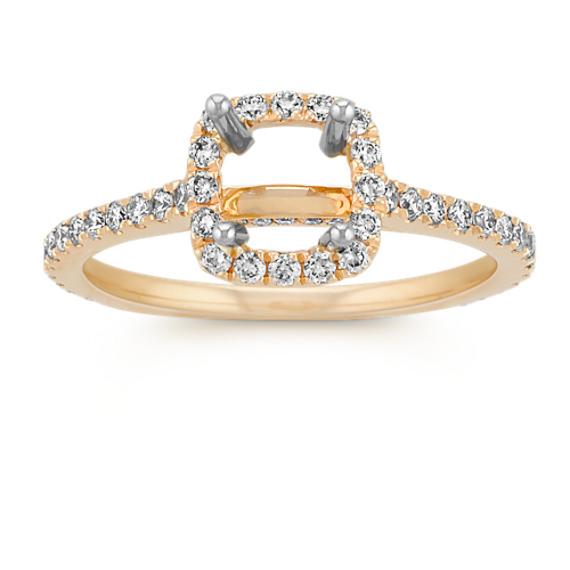 Halo Diamond Engagement Ring for 1 00 Carat Cushion Cut at Shane Co