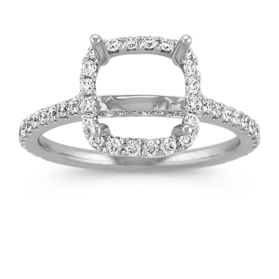 Halo Diamond Engagement Ring for 2 00 Carat Cushion Cut at Shane Co