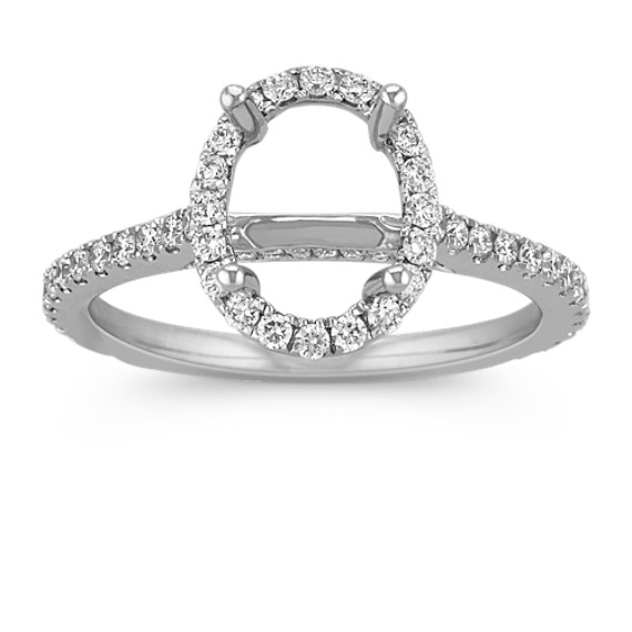 Halo Diamond Engagement Ring for 2 00 Carat Oval at Shane Co