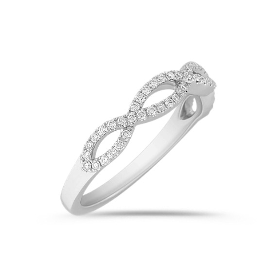 Infinity Diamond Wedding Band with Pavé Setting