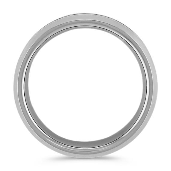 Max-T Brushed Titanium Comfort Fit Ring (8mm)