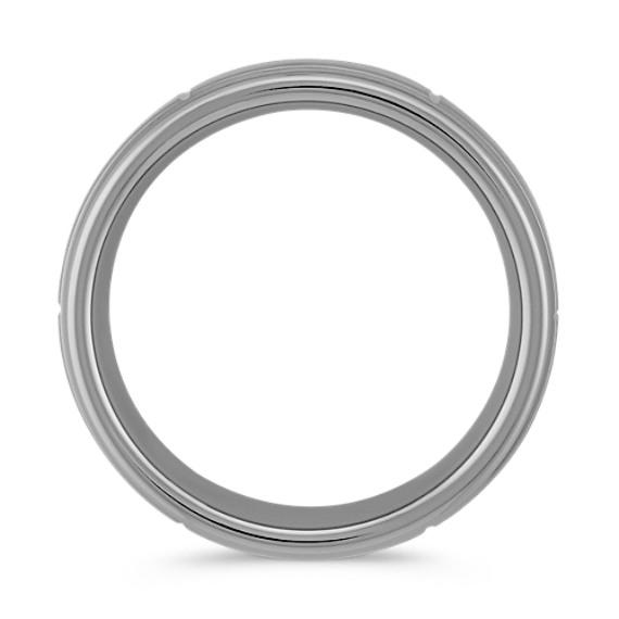 Max-T Engraved Titanium Comfort Fit Ring (8mm)
