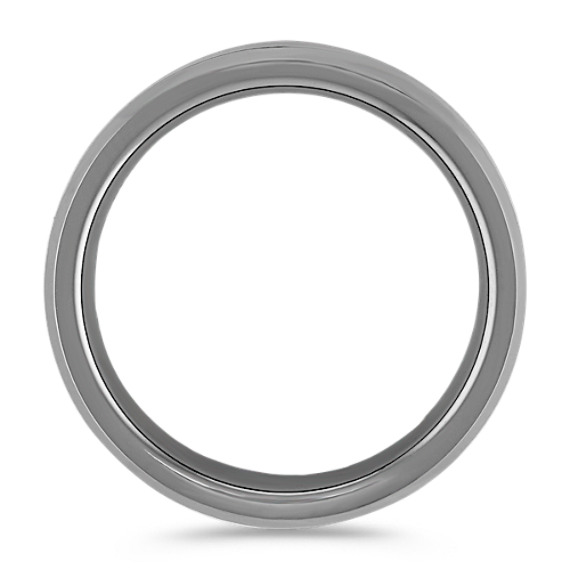 Max-T Titanium Comfort Fit Ring with Carbon Fiber Accent (7.5mm)