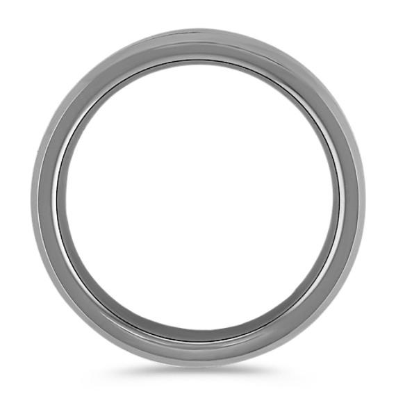 Max-T Titanium Comfort Fit Ring with Carbon Fiber Accent (7.5mm)