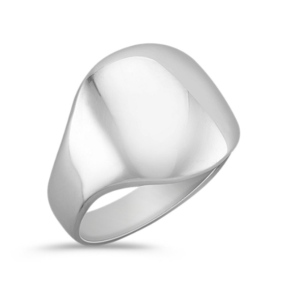 Modern Polished Sterling Silver Ring