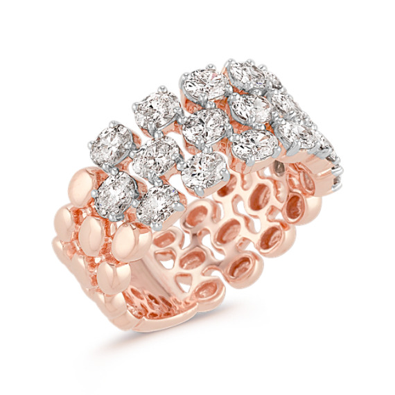 Oval Diamond Fashion Ring in Rose Gold