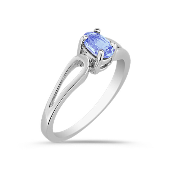 Oval Ice Blue Sapphire Ring