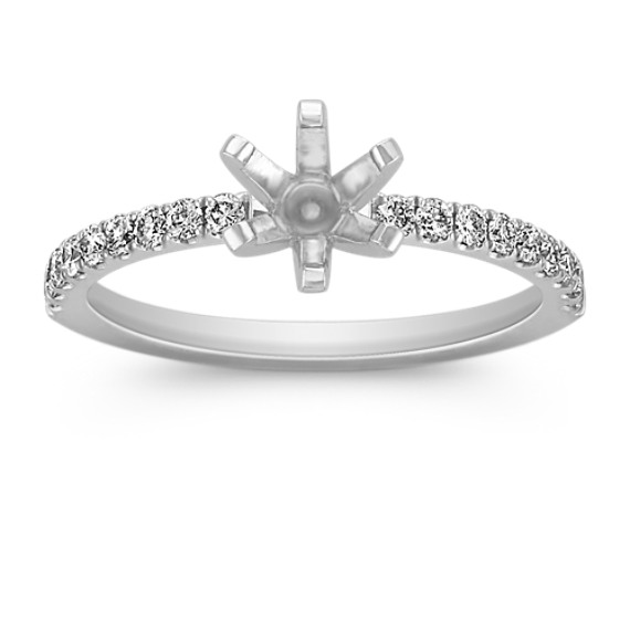 Pavé Diamond Engagement Ring in Platinum