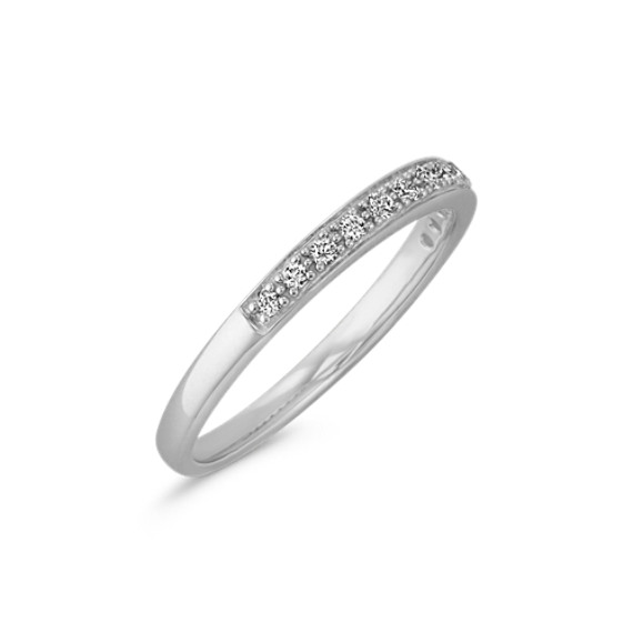 Pavé-Set Classic Diamond Wedding Band