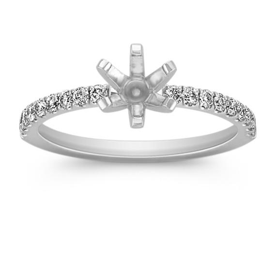 Pavé-Set Diamond Engagement Ring in Platinum